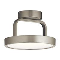 Elan 84028 Stylus 1 Light Brushed Nickel Flush Mount Ceiling Light