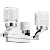 Elan 84040 Rene 2 Light 12 inch Chrome Vanity Light Wall Light