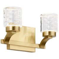 Rene LED 12 inch Champagne Gold Bath Vanity Light Wall Light