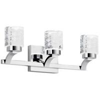 Elan 84041 Rene 3 Light 20 inch Chrome Vanity Light Wall Light