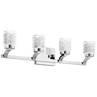 Elan 84042 Rene 4 Light 28 inch Chrome Vanity Light Wall Light