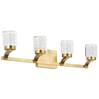 Rene LED 28 inch Champagne Gold Bath Vanity Light Wall Light