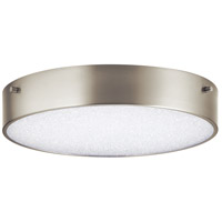 Elan 84050 Crystal Moon LED 12 inch Brushed Nickel Flush Mount Ceiling Light
