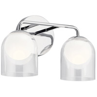 Elan 84058 Beryl 2 Light 15 inch Chrome Vanity Light Wall Light