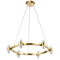 Elan 84066CG Arabella LED 27 inch Champagne Gold Chandelier Ceiling Light