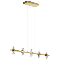 Elan 84067CG Arabella LED 2 inch Champagne Gold Chandelier Linear (Single) Ceiling Light