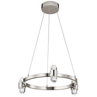 Elan 84068 Arabella LED 21 inch Polished Nickel Chandelier Round Pendant Ceiling Light