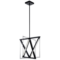 Elan 84082 Axis 20 inch Matte Black and Chrome Pendant Ceiling Light