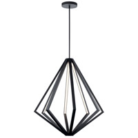 Elan 84087 Everest 8 Light Matte Black Chandelier Ceiling Light