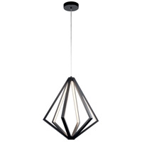 Elan 84090 Everest 6 Light Matte Black Chandelier Ceiling Light