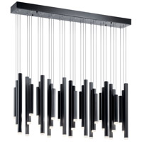 Elan 84099 Soho LED 5 inch Black Chandelier Ceiling Light Rectangular