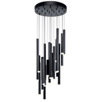 Elan 84116 Soho 24 Light Black Pendant Cluster Ceiling Light