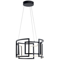 Elan 84133 Melko 9 Light Black Round Pendant Ceiling Light photo thumbnail