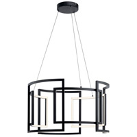 Elan 84134 Melko 9 Light Black Round Pendant Ceiling Light