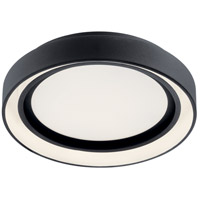 Elan 84157 Fornello Matte Black Flush Mount Ceiling Light