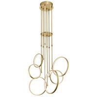 Elan 84205 Bonham LED 28 inch Champagne Gold Chandelier Ceiling Light Medium