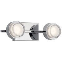 Elan 85076CH Harlaw LED 15 inch Chrome Bath Vanity Light Wall Light
