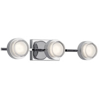 Elan 85077CH Harlaw LED 22 inch Chrome Vanity Light Wall Light
