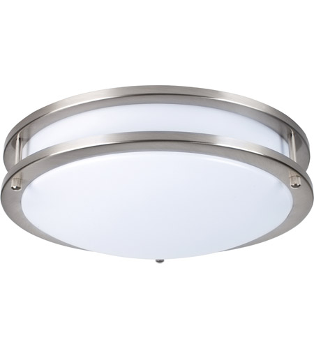 Elitco Lighting CF3202 CF32 Series LED 12 inch Brushed Nickel Flush ...