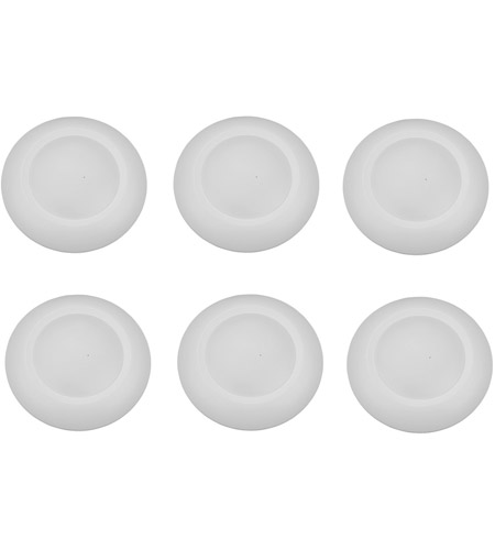 Elitco Lighting R41230NDK-6PK R Series 120V Integrated LED 6 inch Matte White Disk Light in 3000K, Pack of 6 alternative photo thumbnail