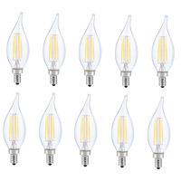 Elitco Lighting E12LED106-10PK Jovi LED CA10 Filament LED E12 6 watt 120V 2700K Light Bulb Pack of 10