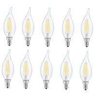 Elitco Lighting E12LED116-10PK Jovi LED CA10 Filament LED E12 6 watt 120V 3000K Light Bulb Pack of 10