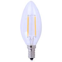 Elitco Lighting E12LED123-10PK E12led Series Filament LED B10 E12 2.5 watt 120V 5000K Light Bulb Pack of 10