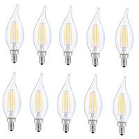 Elitco Lighting E12LED126-10PK Jovi LED CA10 Filament LED E12 6 watt 120V 5000K Light Bulb Pack of 10