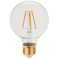Elitco Lighting G25LED101-6PK G25led Series Filament LED G25 E26 3.5 watt 120V 2200K Light Bulb Pack of 6