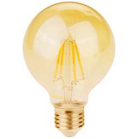 Elitco Lighting G25LED301-6PK G25led Series Filament LED G25 E26 3.5 watt 120V 2200K Light Bulb Pack of 6