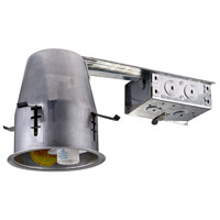 Elitco Lighting ICAT4R-GU10LED-6PK Signature MR16LED Aluminum Recessed Housing 4in Remodel IC Rated Pack of 6
