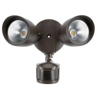 Aegis LED 10 inch Brown Outdoor Security Light