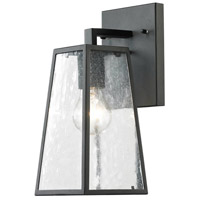 Elitco Lighting OD2200 OD22 Series 1 Light 12 inch Matte Black Outdoor Wall Lamp