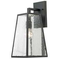 Elitco Lighting OD2201 OD22 Series 1 Light 16 inch Matte Black Outdoor Wall Lamp
