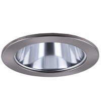 Elitco Lighting R4-199CB-12PK Signature PAR20/BR20 Brushed Nickel and Chrome Recessed Trim, 4in, Pack of 12