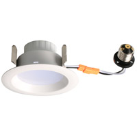 R409 Series LED Matte White Retrofit Recessed Light, Pack of 4