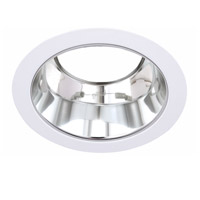 Elitco Lighting RES530CW-12PK Signature PAR30/R30/PAR30LED Matte White and Brushed Chrome Recessed Trim 5in Pack of 12