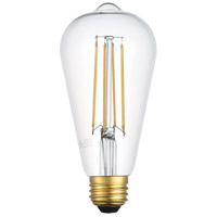 Elitco Lighting ST18LED103-6PK Nostalgic LED ST18 San'an LED E26 6 watt 120V 3000K LED Light Bulb, Pack of 6