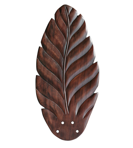 Emerson Fans Maui Bay Blade Fan Blades in Hand Carved Leaf - Dark Cherry (Set of 5) B50DC photo