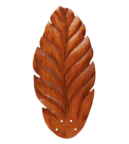 Emerson Fans Maui Bay Blade Fan Blades in Hand Carved Leaf - Dark Oak (Set of 5) B50DO photo