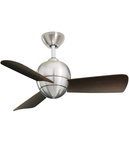 Emerson Fans Tilo Ceiling Fan in Brushed Steel with Dark Cherry Blades CF130BS photo