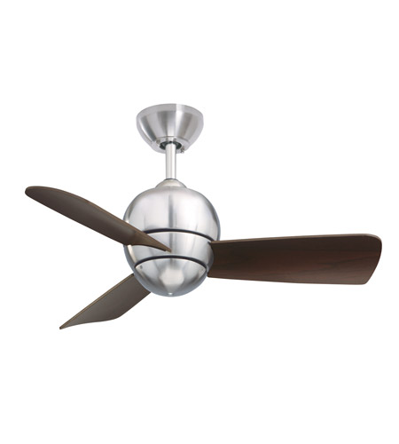 Emerson CF130BS Tilo 30 inch Brushed Steel with Dark Cherry Blades Indoor-Outdoor Ceiling Fan photo