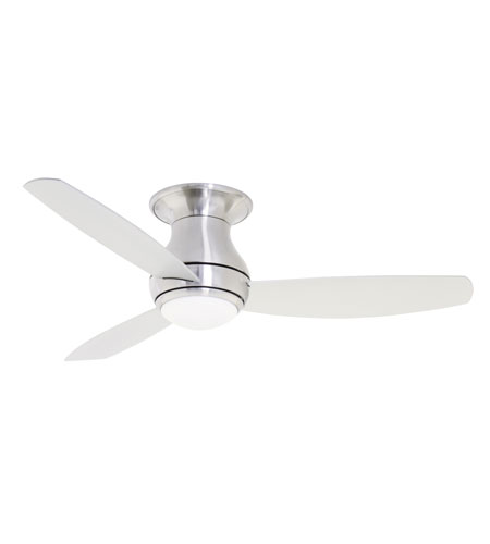 Emerson CF144BS Curva Sky 44 inch Brushed Steel with All-Weather Brushed Steel Blades Indoor-Outdoor Ceiling Fan photo