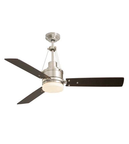 Emerson CF205BS Highpointe 54 inch Brushed Steel with Dark Mahogany Blades Ceiling Fan in Opal Matte photo
