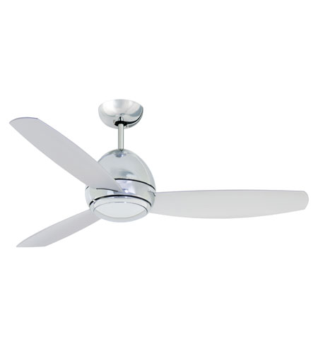 Emerson 44in Curva Ceiling Fan in Chrome with All-Weather Brushed Steel Blades CF244CRM photo