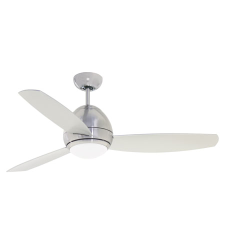 Emerson Fans 52in Curva 2 Light Ceiling Fan in Brushed Steel with All-Weather Brushed Steel Blades CF252BS photo