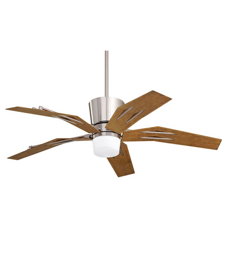 Emerson Fans Origami 1 Light Ceiling Fan in Brushed Steel with Aged Pine Blades CF3000BS photo