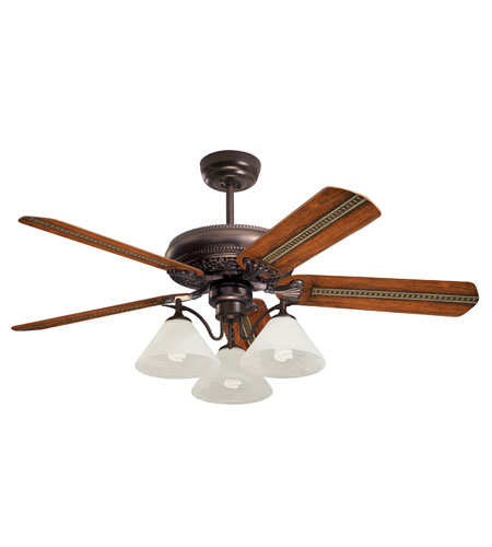Emerson Fans Three Light Bankers 3 Light Fan Light Kit in Oil Rubbed Bronze with Alabaster Swirl Glass LK37ORB photo