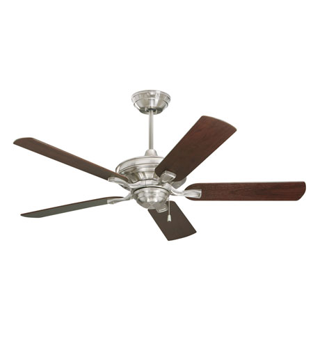 Emerson CF452BS Bella 52 inch Brushed Steel with Dark Cherry/Walnut Blades Ceiling Fan photo