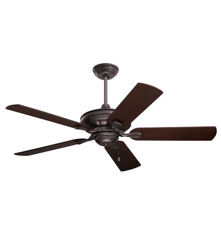 Emerson Fans 52in Bella Ceiling Fan in Oil Rubbed Bronze with Dark Mahogany/Walnut Blades CF452ORB photo